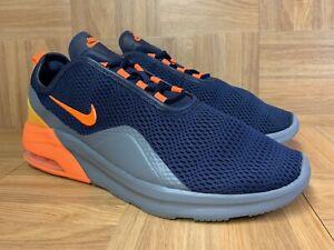RARE-Nike-Air-Max-Motion-2-Obsidian-Blue-Total-Orange-Gray-Sz-12-CK0002-400