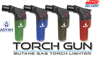 Blink Duke Butane Torch Lighter Gun Windproof Jet Refillable Carbon