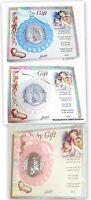 Hirten Guardian Angel Crib Medal Choose Blue, White Or Pink Free Shipping