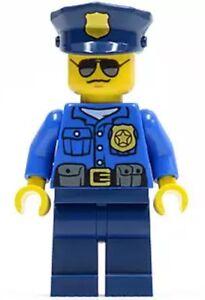 LEGO® Minifigure Police City Officer Gold Badge dark Blue ...