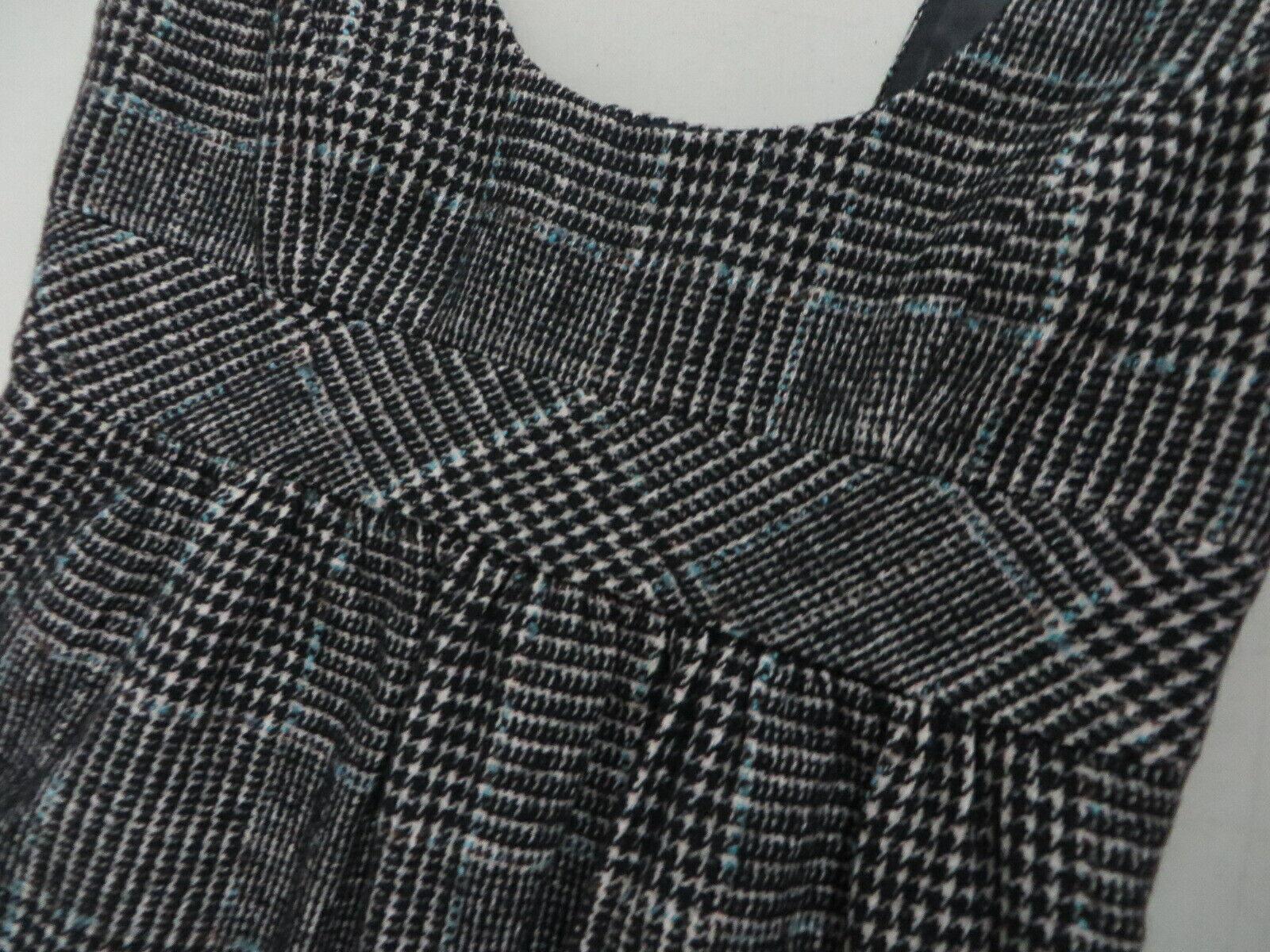 ZARA BASIC Wool blend Tweed Checkered Tartan  Bla… - image 6