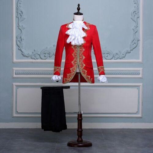 Mittelalterlich Vintage Militär Tunika Mantel Jacke und Trouers Satz Renaissance