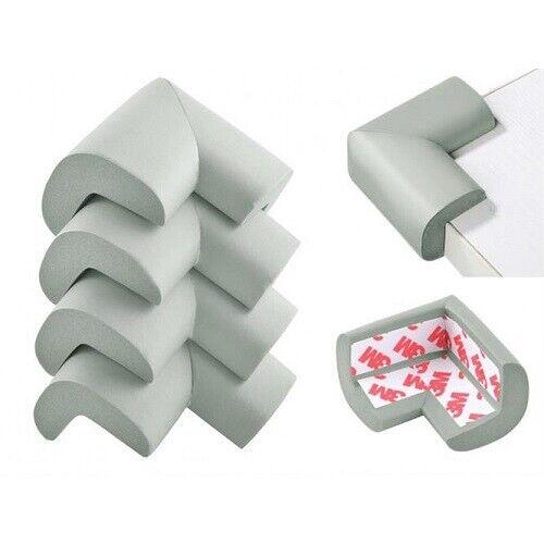 4 x Kantenschutz Eckenschutz Schaumstoff grau oder hellbraun Kinderschutz