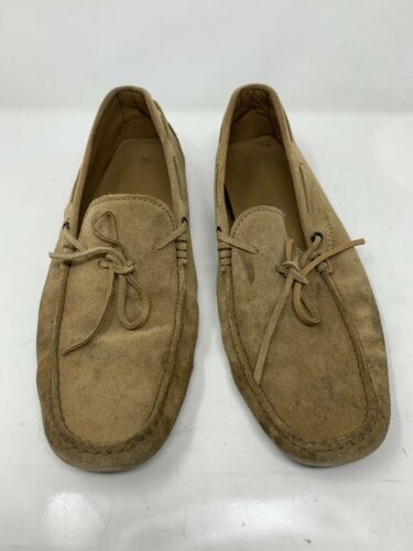 TODS Brown Loafers Suede Leather Mens Size 11