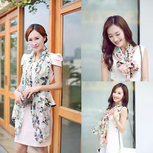 Women-Lady-Chiffon-Butterfly-Print-Neck-Shawl-Scarf-Scarves-Wrap-Stole-Warm-Gift