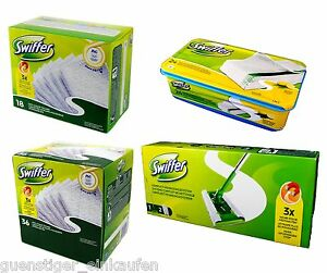 Swiffer-starter-kit-complet-nettoyage-systeme-Essuie-glace-amp-8-lingettes-poussiere-wet
