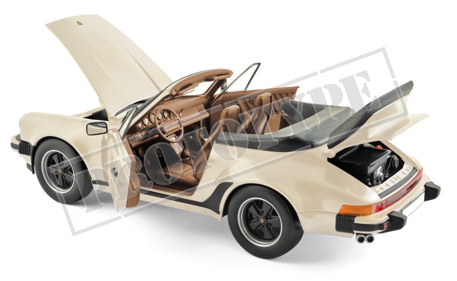 Porsche 911 turbo cabrio 1987 Ivory 1 18 norev 187661 nuevo embalaje original &