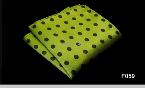 "HOT 10/"" Polka Dot Men Silk Satin Hanky Wedding Party Handkerchief Pocket Square"