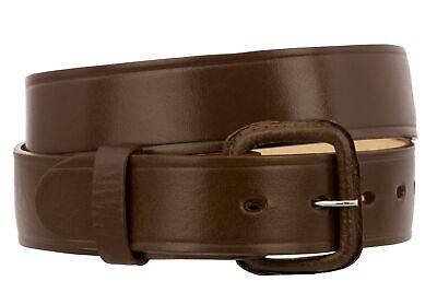 Mens Cowboy Belt Genuine Leather Western Dark Brown Silver Buckle Cinto Vaquero