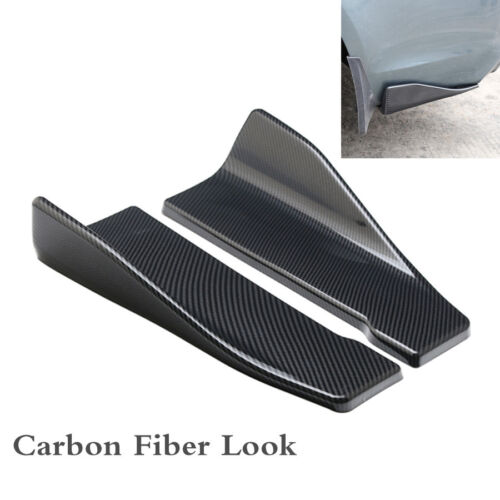 Carbon Fiber Look Car Bumper Spoiler Rear Lip Angle Splitter Diffuser Anti-crash
