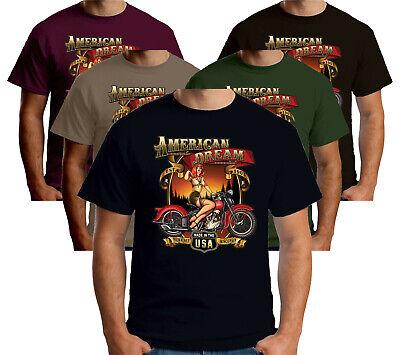Velocitee Mens Long Sleeve T-Shirt Last Stop Classic Biker Vintage Harley W13688