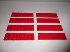Lego (3034) 8 Platten 2x8, in rot aus 8185, 9314, 8156, 8143, 8671