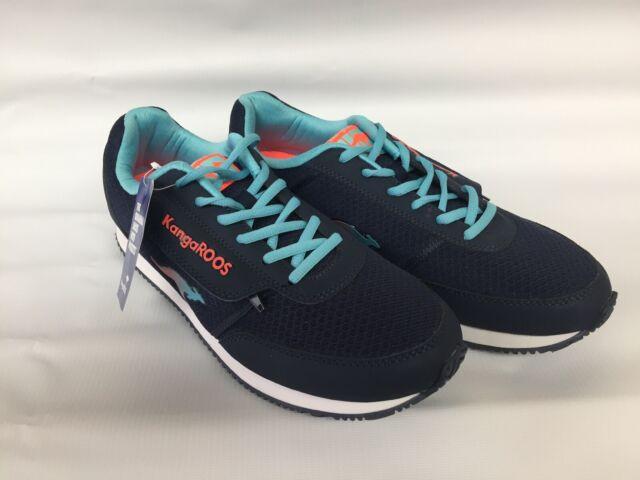 KangaROOS Roos Pocketpass Jogger 164229 Blue Marathon Running Shoes Women\u0027s  11