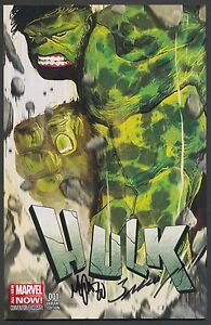 HULK-1-FAN-EXPO-CONVENTION-VARIANT-SIGNED-Mark-Bagley-amp-Michael-Del-Mundo-COA