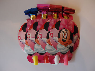 MINNIE MOUSE BIRTHDAY PARTY BLOWERS PK8 NEW!