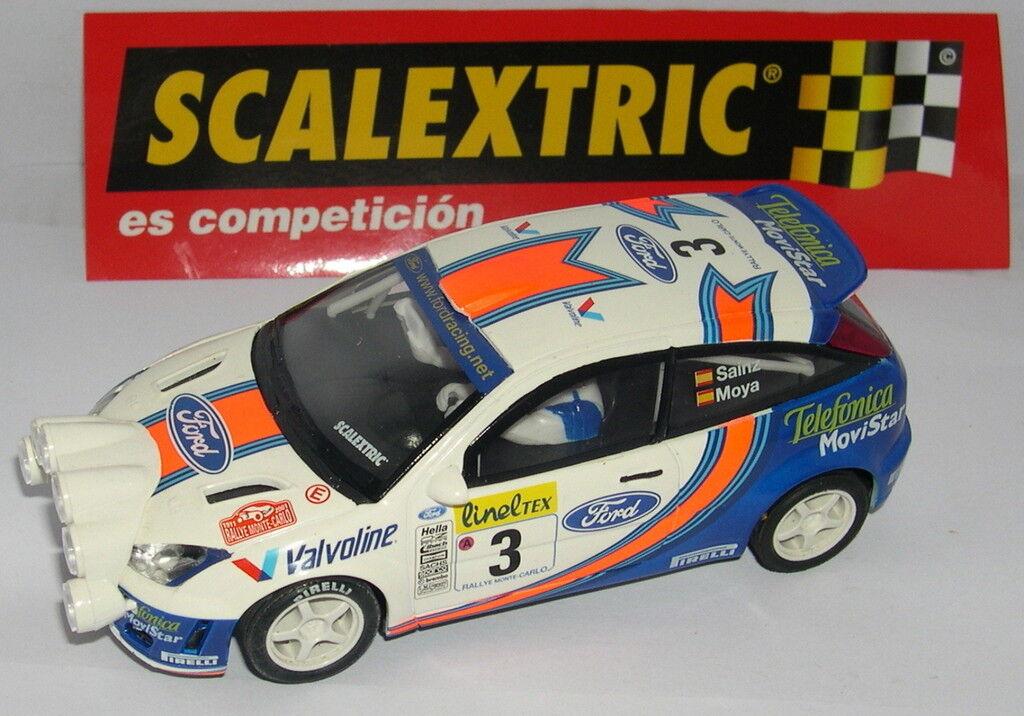 SCALEXTRIC SPAIN PLANET CARLOS SAINZ FORD FOCUS WRC MONTECARLO 2001 LTED. ED