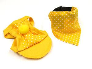 perros-Gorra-Tapa-CAPE-Juego-Cappy-PANUELO-Yellow-Dots-hundecappy