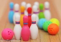 IWAKO Japanese Sports Novelty Eraser Rubber - IWAKO Bowling Set Erasers