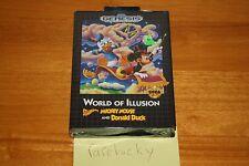 World of Illusion Mickey Mouse & Donald Duck (Sega Genesis) NEW SEALED HARDCASE!