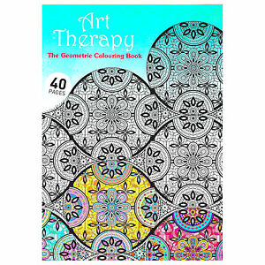Image Is Loading NEW Art Therapy Geometric Adults Colouring Book Creative