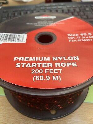 Size 5 1//2 Briggs /& Stratton 790967 200-feet Spool of Nylon Starter Rope
