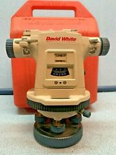 David White Lt8 300 Model 8870 Universal Optical Level Transit With Case