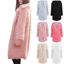 Winter Coat Women's Tall Long Jacket Faux Fur Warm Parka Outwear Ladies Overcoat