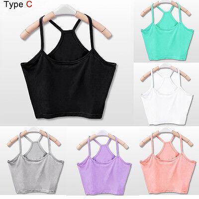 Summer Women Bra Crop Belly Top Sportwear Vest Shirt Beach Sleeveless Tank Tops