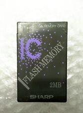 SHARP 2MB FLASH MEMORY PCMCIA LINEAR CARD PLC ID240D02