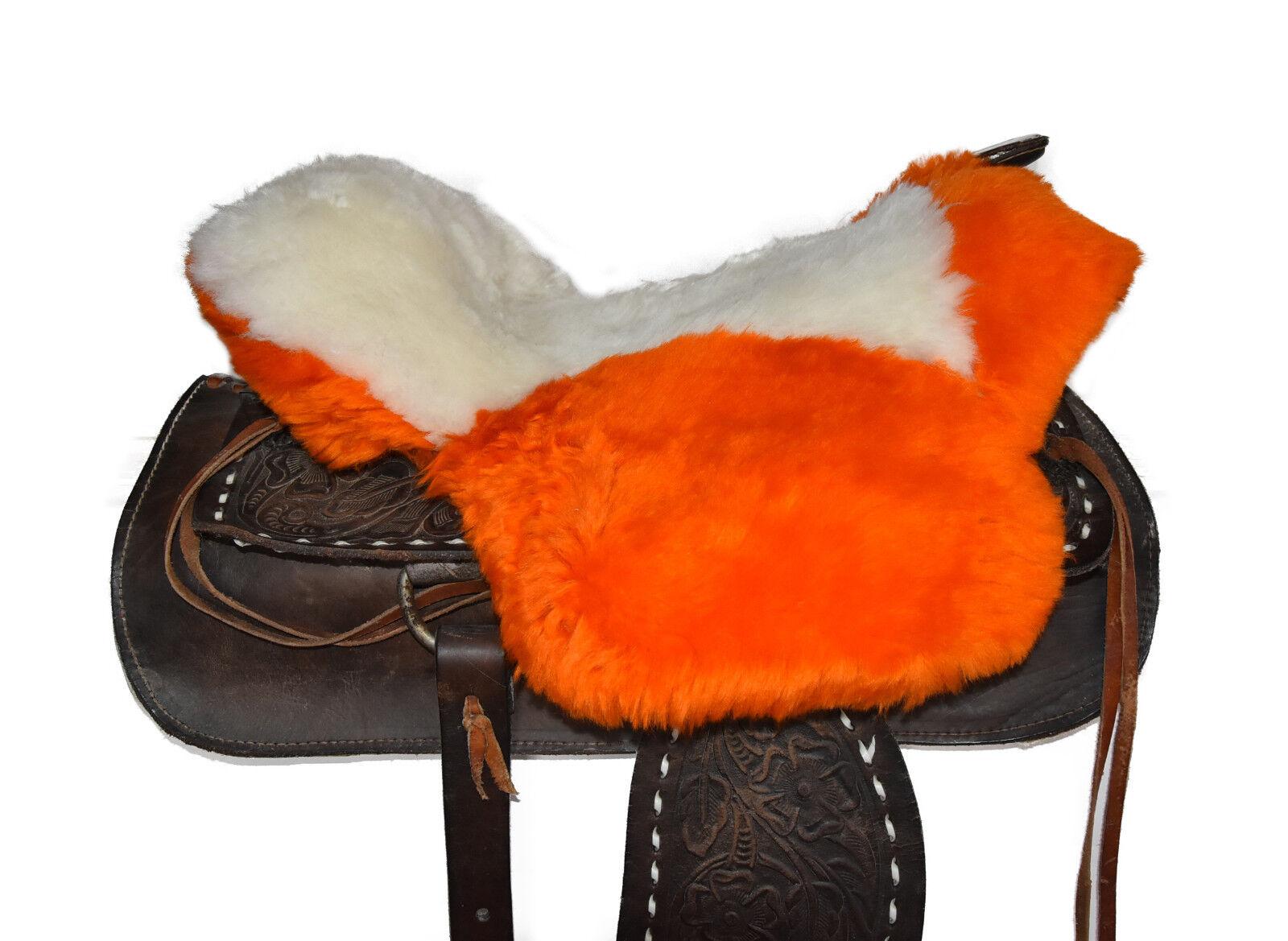 Lammfell Sattelauflage Western Sattel Lammfellbezug Saddle Pad Seat Saver S339