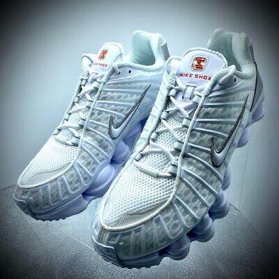 Nike SHOX TL White-Metallic Silver AV3595 100 Men's Size 12 New With Box    eBay