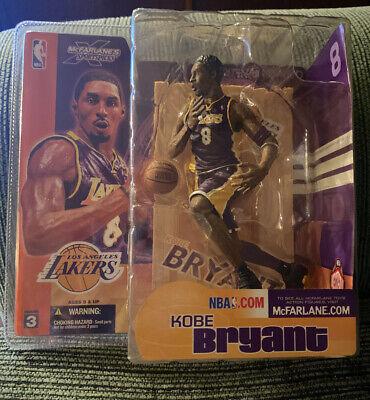 NBA McFarlane Series 3 Kobe Bryant Los Angeles Lakers Purple #8 Action Figure OG
