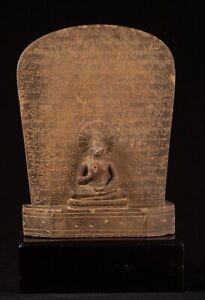 Buddha-Statua-Antico-Pietra-Stele-Tailandese-Insegnamento-49cm-50-8cm