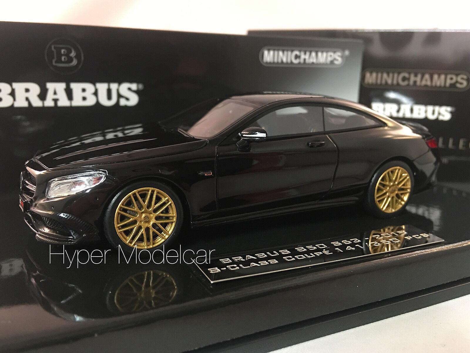 Minichamps 1 43 Mercedes-Benz S-Class Coupè 850 Brabus S63 2015 nero 437034220