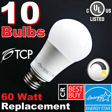 60W ▶DIMMABLE◀ LED Soft White Light Bulbs 2700K A19 ▶By TCP◀ 60 Watt Equivalent