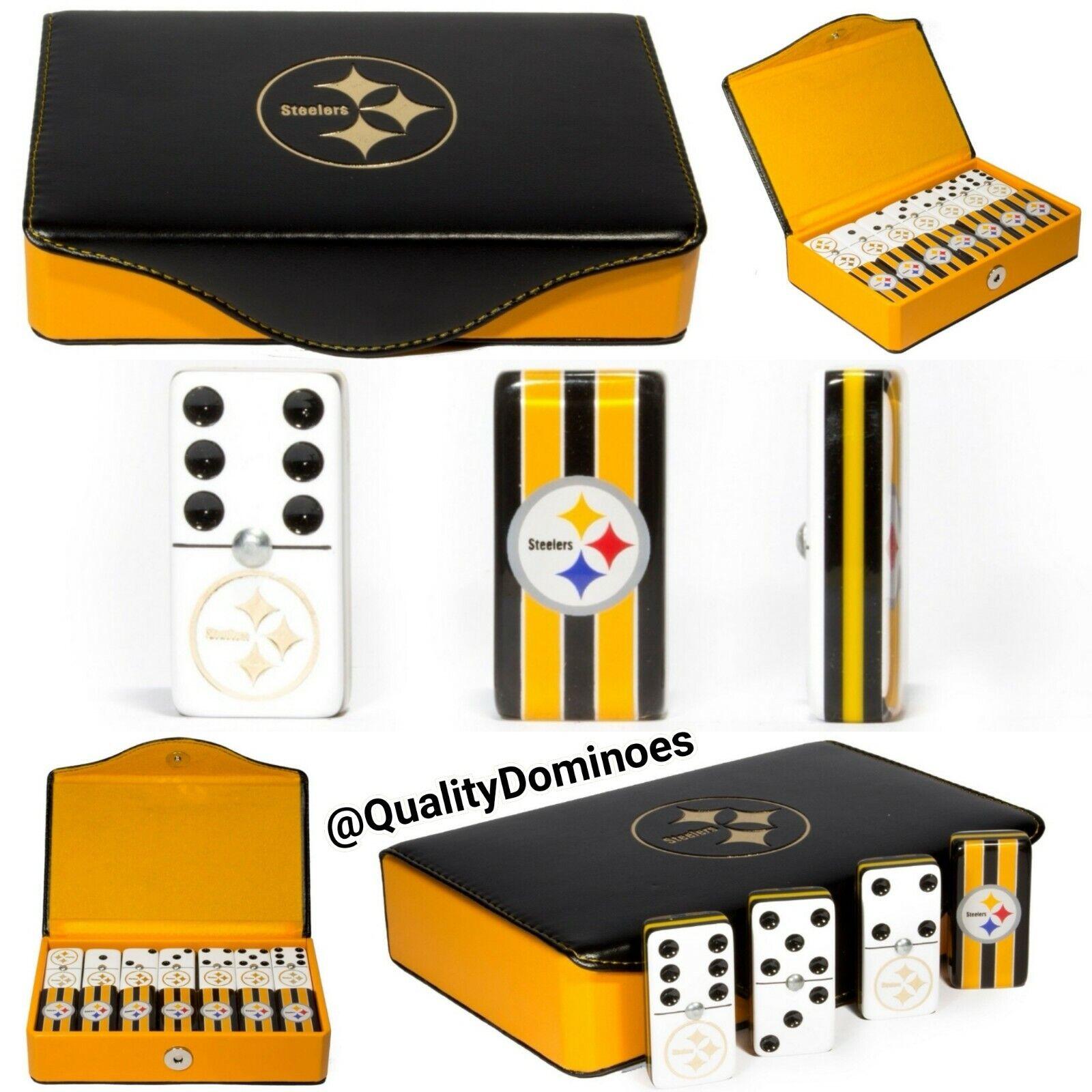 Pittsburgh Steelers Domino Game Set Jumbo Größe Great Hot Gift Dominoes Man Cave