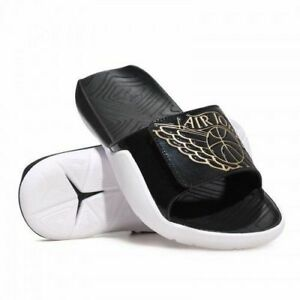 ef77a6454b5e Nike sz 8 Jordan Hydro 7 RETRO Slides Sandals NEW AA2517 021 Black ...