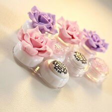 Home Travel Portable Cute Flower Contact Lens Storage Box Case Holder Organizers