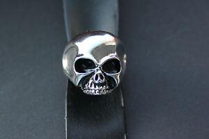 Edelstahlring-Totenkopf-Ring-Edelstahl-Keith-Richards-silber-Biker-skull-PULSZ