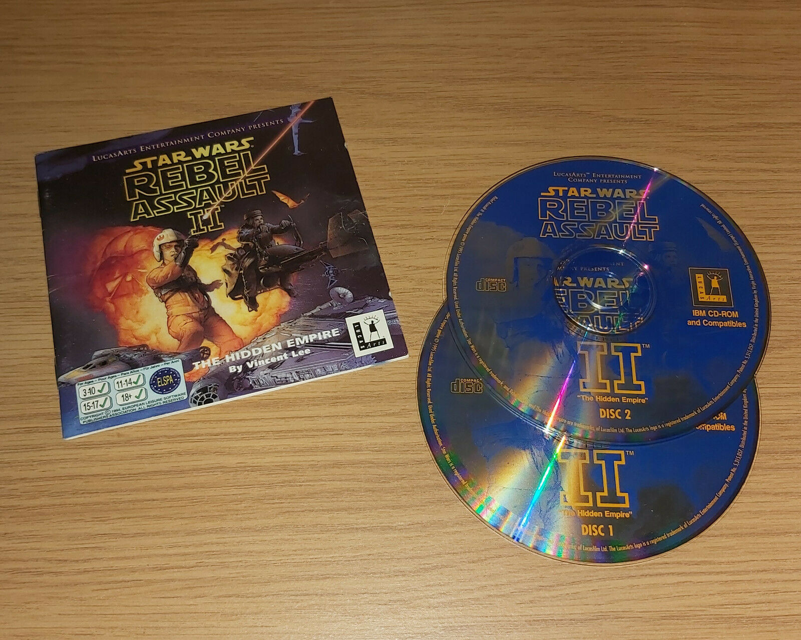Star Wars Rebel Assault II 2 PC CD Game 1995 - pas cher StarWars