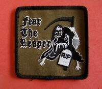 Fear The Reaper Iron On Patch Rip Headstone