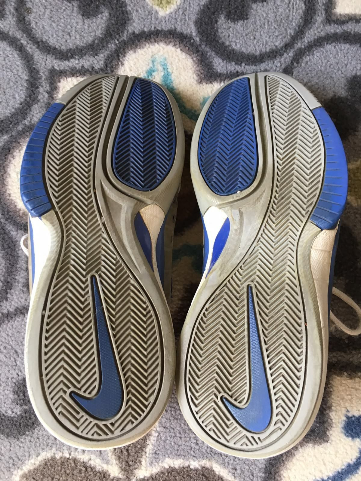 2005 NIKE AIR HUARACHE 2K4 LOW PROMO Mens 10.5 10.5 10.5 Used Basketball Beaters Blue Grey 581ad3