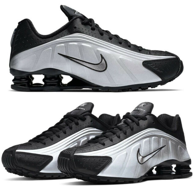 New NIKE Shox R4 Casual Shoes Mens black gray all sizes