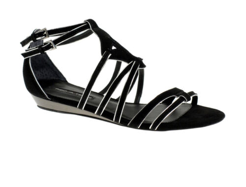 PIED A TERRE JENNINGS PIPIED STRAPPY LOW WEDGE LADIES SANDALS EX-DISPLAY