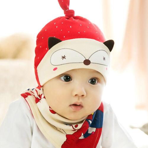Neugeborenes Baby Kleinkind Baumwolle Hüte Cap Hut Speichel Handtuch Beanie