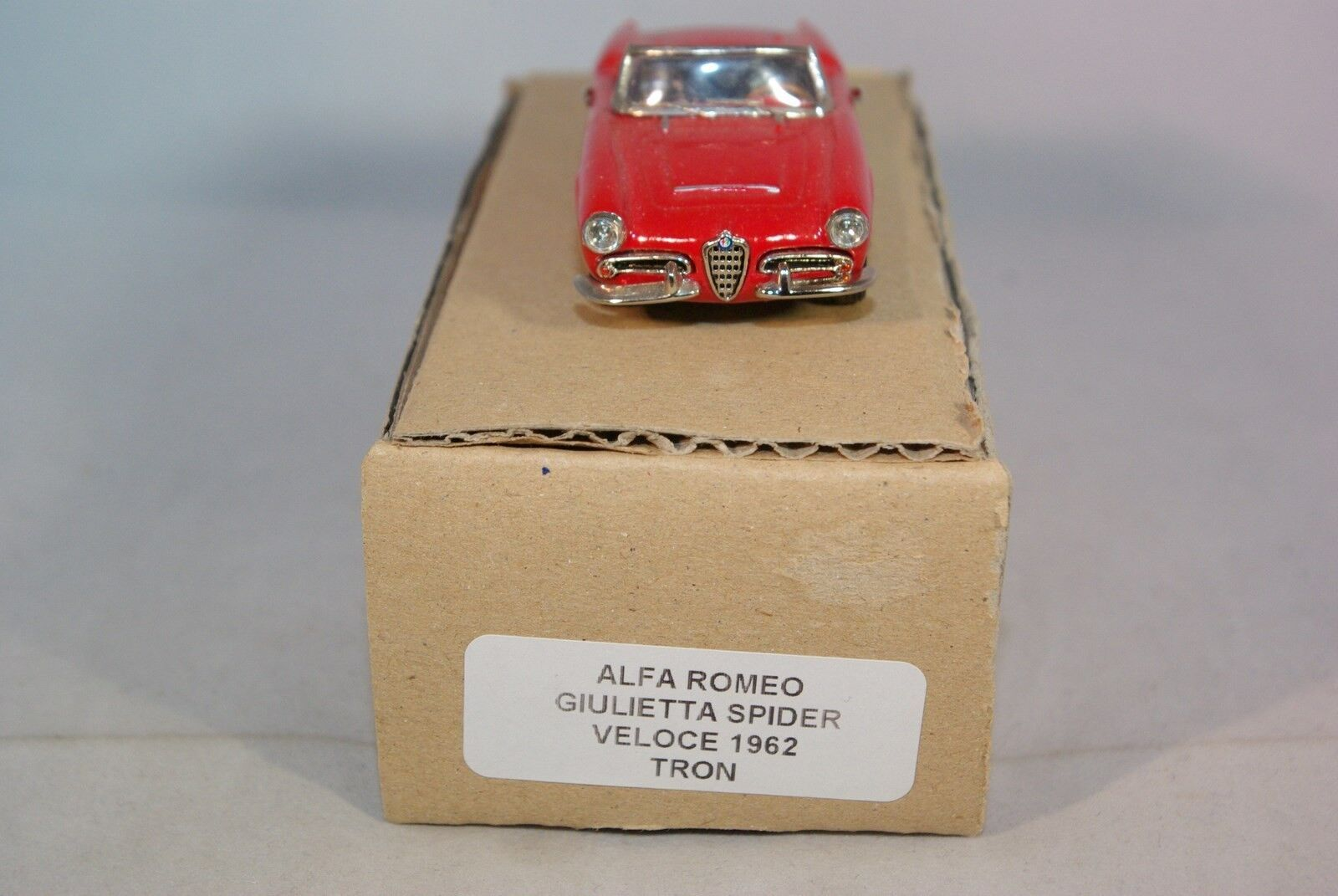 TRON ALFA ROMEO ROMEO ROMEO GIULIETTA VELOCE SPIDER 1962 RED MINT CONDITION 286430