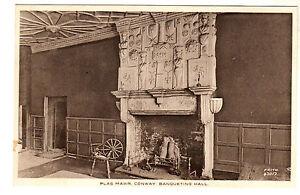 Plas-Mawr-Conway-Banqueting-Hall-Photo-Postcard-c1930