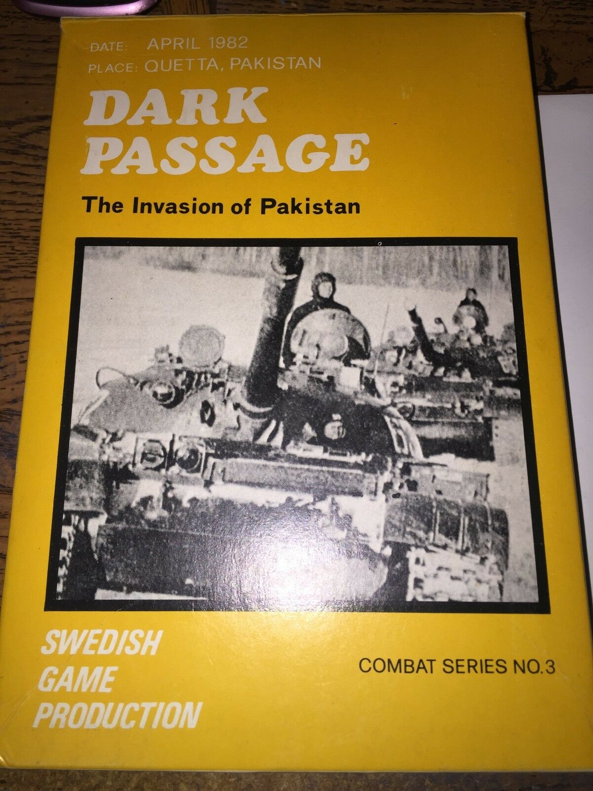 DARK PASSAGE THE INVASION OF PAKISTAN - SWEDISH GAME PRODUCTION - RARE UNPUNCHED
