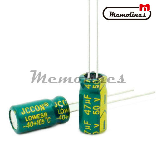 10//20//50//100PCS 6x12mm 50V 47uF High Frequency Radial Electrolytic Capacitor