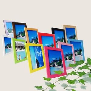 Classic Wooden Photo Frame Multi Color Choose Picture
